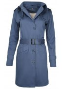Blauer Damentrenchcoat Mac von Protected Species