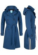 Blauer langer Trenchcoat Strip Stacey von Happy Rainy Days