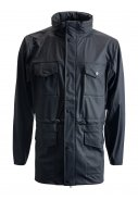 Dunkelblaue Regenjacke von Rains (Four Pocket)