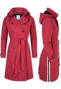 Dunkelroter langer Trenchcoat Strip Robyne von Happy Rainy Days