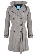 Lehmfarben(clay)/dunkelblauer Trenchcoat Celeste von Happy Rainy Days