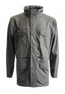 Graue Regenjacke von Rains (Four Pocket)