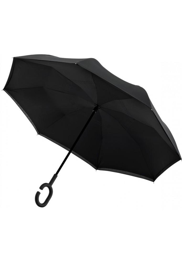 inside out schwarz regenschirm mit doppeltem tuch und