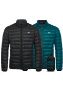 Jet Black/Teal Polar wendbare Damen Daunenjacke von Mac in a Sac