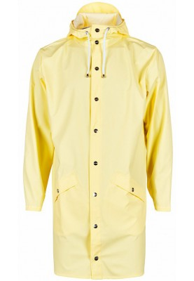 gelbe lange regenjacke von rains maat l xl m l s m xs s xxs xs damen regenjacken. Black Bedroom Furniture Sets. Home Design Ideas
