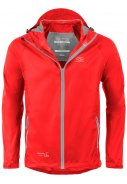 Rote Regenjacke Stow and Go von Highlander