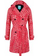 Rot/weisser Trenchcoat Roxy von Happy Rainy Days