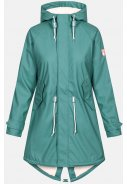 Sage green Damenregenjacke Travel Cozy Friese von Derbe