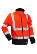 Lyngsøe Rainwear Hi-Vis Softshell fluor orange/schwarz
